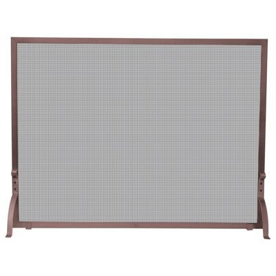 Single Panel Antique Copper Finish Screen BR-S-1301