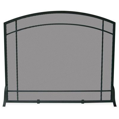 Single Panel Black Wrought Iron Mission Screen BR-S-1029
