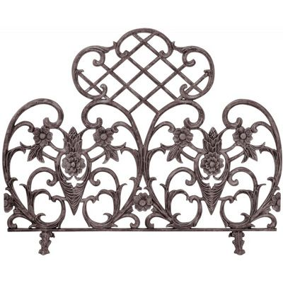 Single Panel Bronze Finish Cast Aluminum Screen BR-S-5812