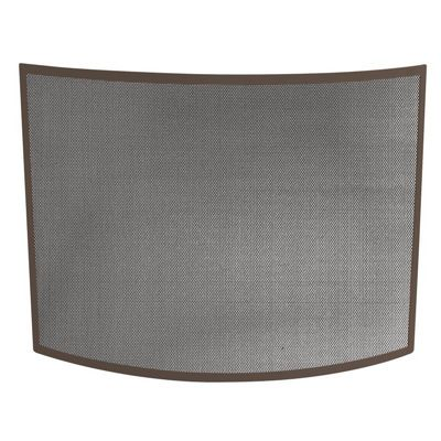 Single Panel Curved Bronze Wrought Iron Screen BR-S-1667