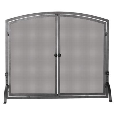 Single Panel Olde World Iron Screen With Doors, Medium BR-S-1146