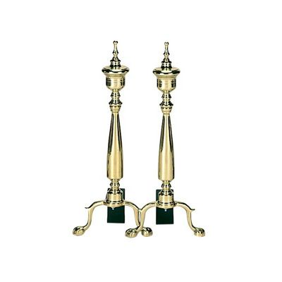 Solid Brass Urn Andirons BR-A-9126