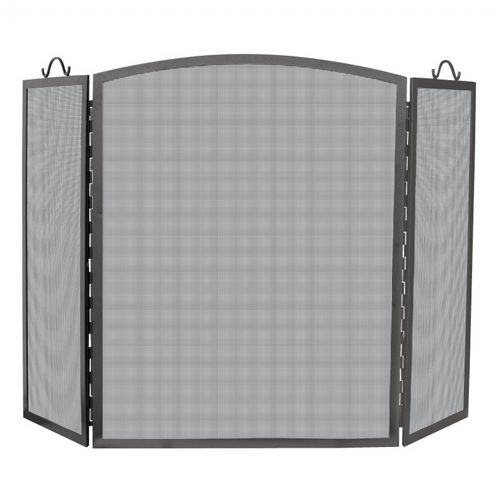 3 Panel Olde World Iron Arch Top Screen, Large BR-S-1172
