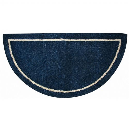 Deep Blue Hand-Tufted 100% Wool Hearth Rug BR-R-4000