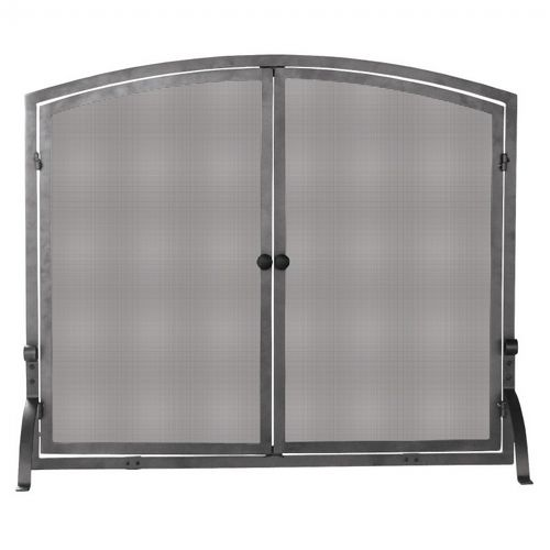 Single Panel Olde World Iron Screen With Doors, Large BR-S-1142