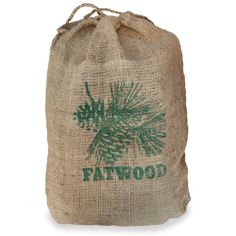 8 Pounds Fatwood Bundle In Burlap Sack