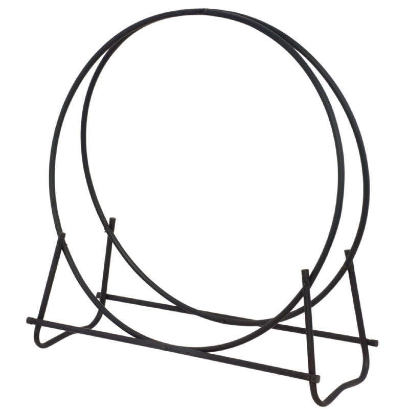 "Black 40"" Diameter Log Hoop : Fire Pits & Fireplaces"