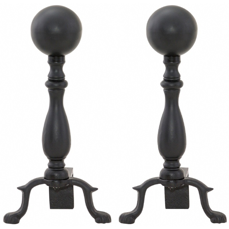 Black Ball Andiron