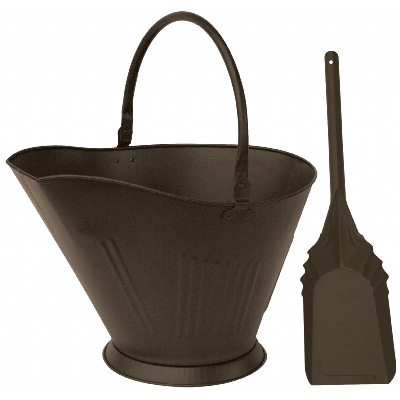 Bronze Finish Coal Hold And Shovel : Fire Pits & Fireplaces