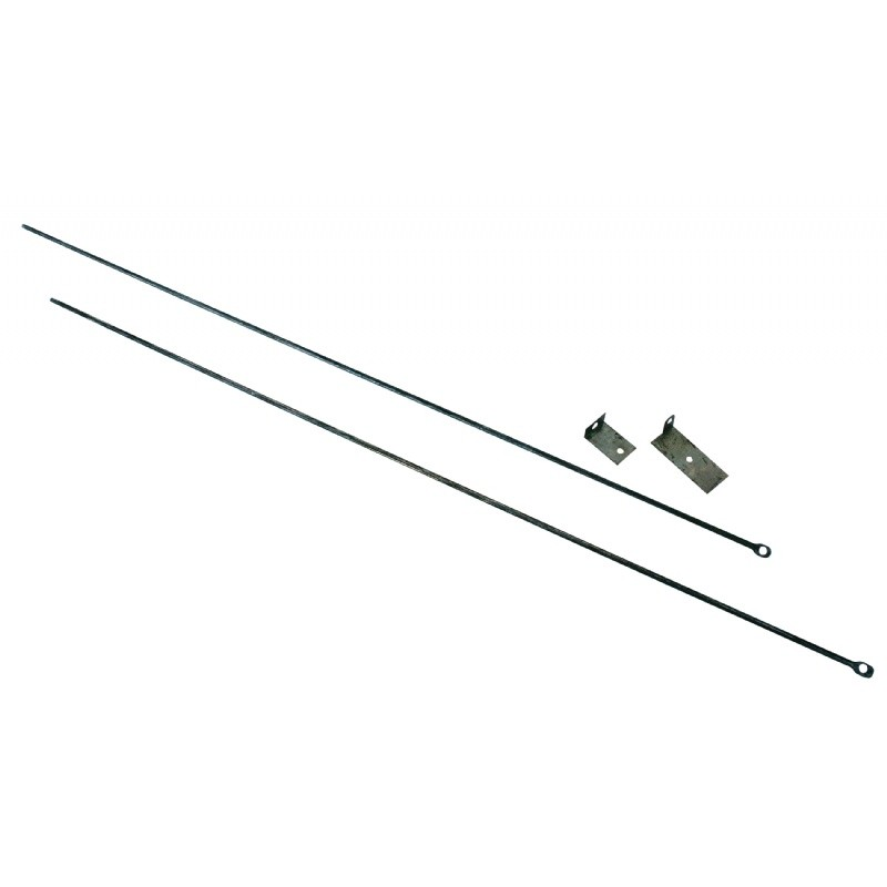 "Fireplace Curtain Rod Kit, 32"" TO 58"" Long"