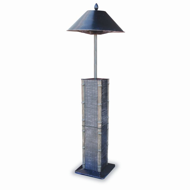 Free Standing Solar Patio Lanterns: Electric Outdoor Heater Lamp Sumatra 68 inch.