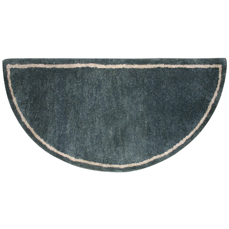 Forest Green Hand-Tufted 100% Wool Hearth Rug