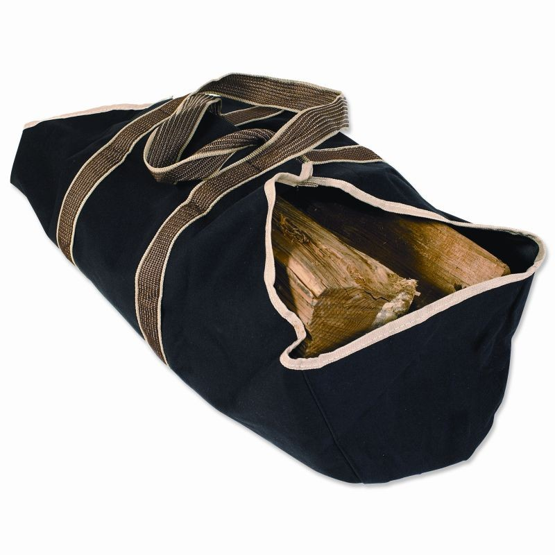Home & Garden: Fire Pits & Fireplaces: Wood Carrier Heavy Weight Canvas Log Tote