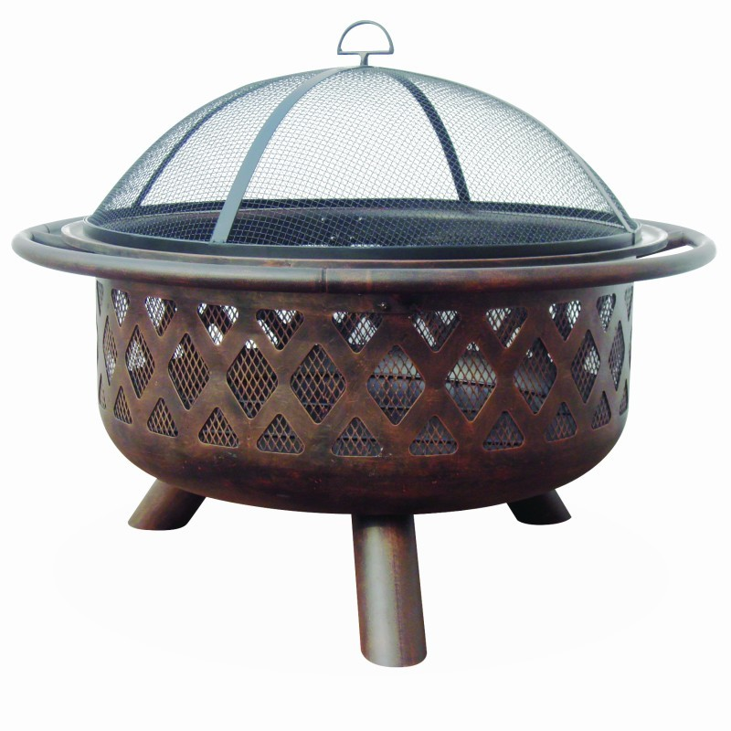 Steel & Bronze Fire Pits: Deep Bronze Outdoor Fire Pit