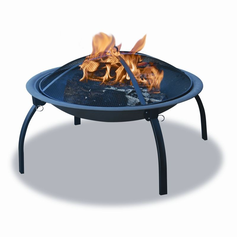 Steel & Bronze Fire Pits: Folding Outdoor Camping Fire Pit
