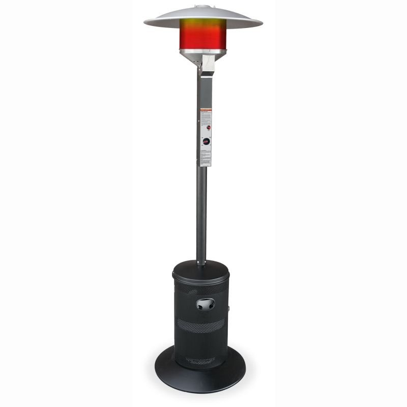 High End Fire Pits: Family Series LP Gas Patio Heater Black