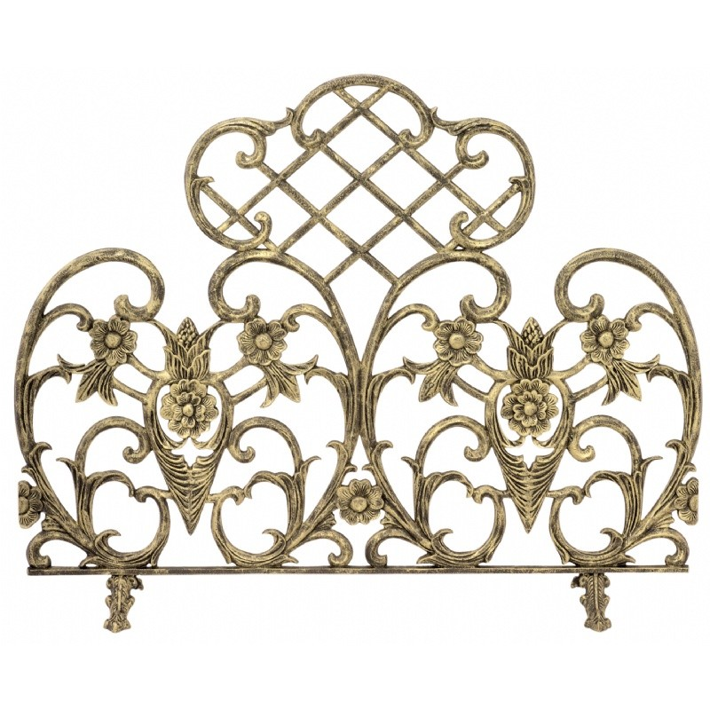 Single Panel Antique Gold Cast Aluminum Screen