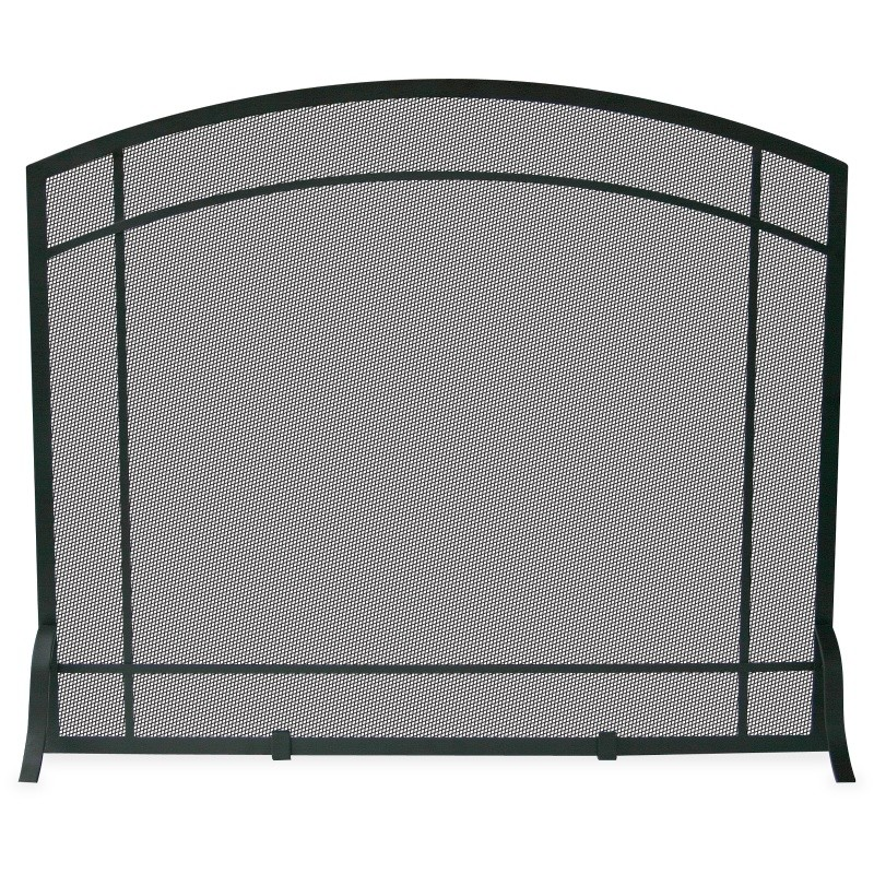 Single Panel Black Wrought Iron Mission Screen