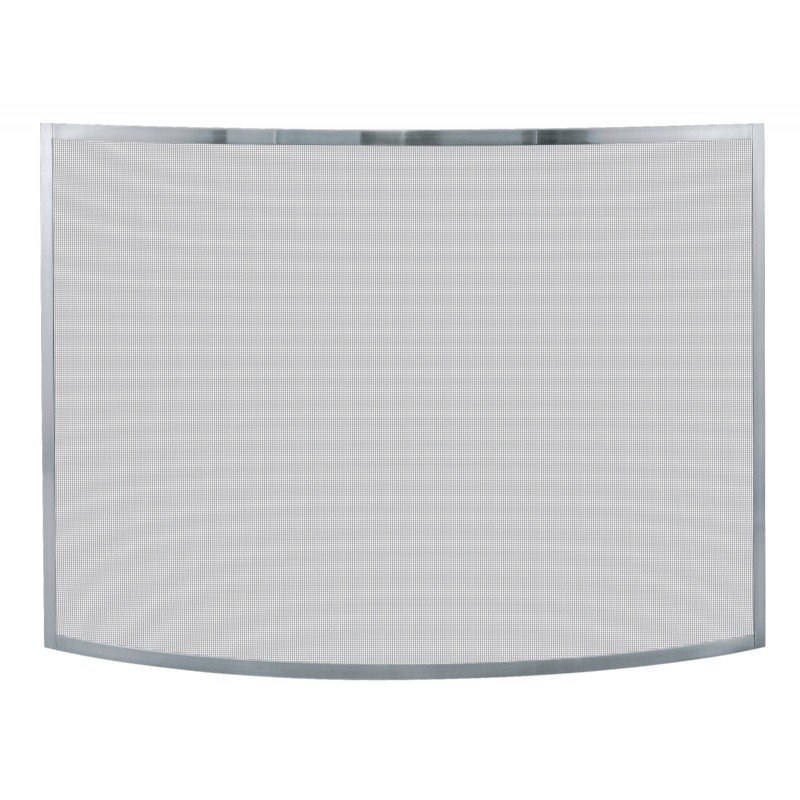 Single Panel Curved Pewter Screen