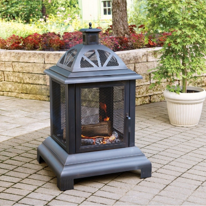 Steel Black Firehouse Fire Pit