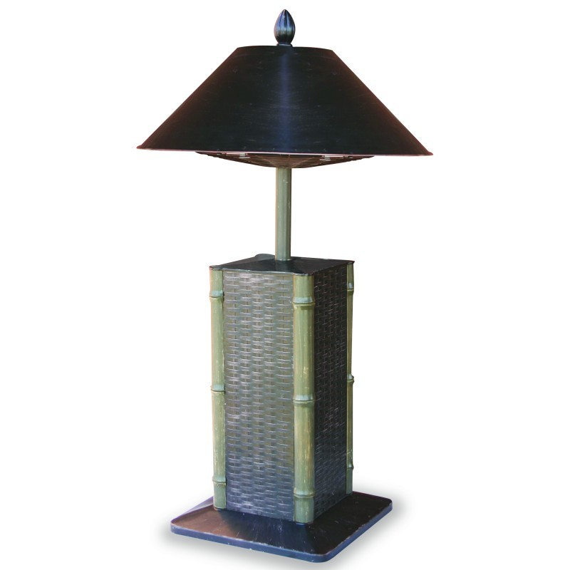 Bronze Lamp Post with Photo Eye and Outlet: Electric Outdoor Heater Table Lamp Sumatra 40 inch.