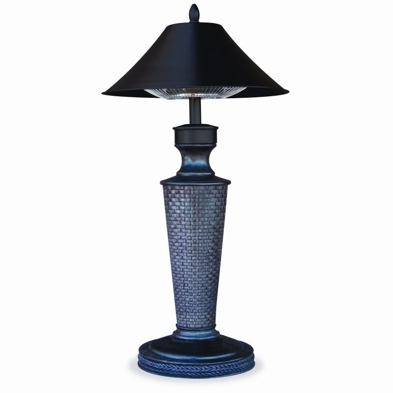 Bronze Lamp Post with Photo Eye and Outlet: Electric Outdoor Heater Table Lamp Vacation Day 37 inch.