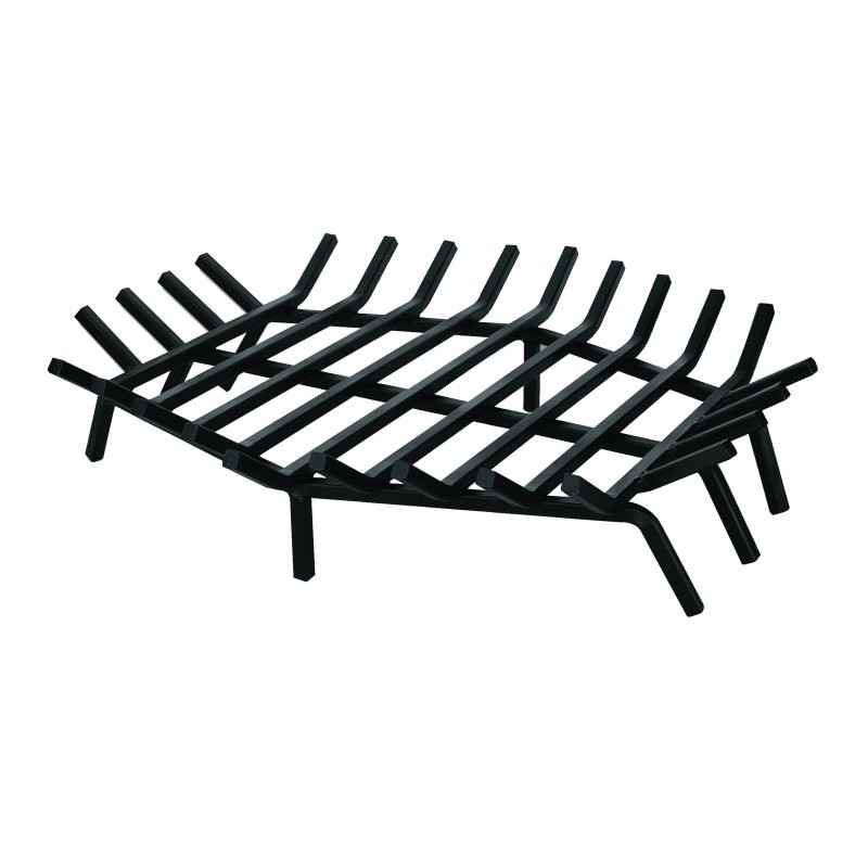 Outdoor Fire Pit: Wrought Iron 27 inch Hexagon Bar Grate for Outdoor Fire Pits