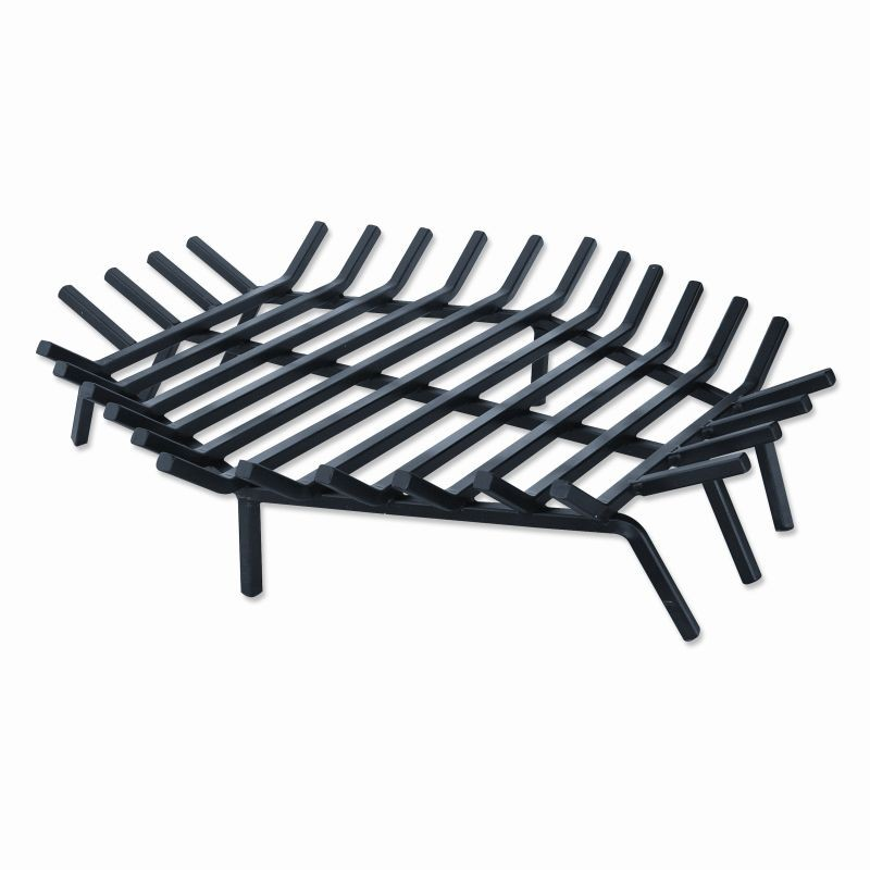 Accessories for Fire Pits, Fire Places, Torches: Wrought Iron 30 inch Hexagon Bar Grate for Outdoor Fire Pits