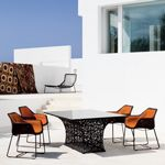 Modern Aluminum Outdoor Dining Set 5-piece GK650S1