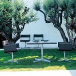 XXL Wicker Modern Outdoor Dining Set 5-piece