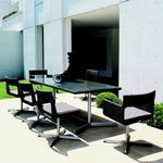 XXL Wicker Modern Outdoor Dining Set 9-piece GK880S4