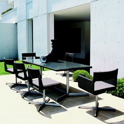 XXL Wicker Modern Outdoor Dining Set 9 Piece