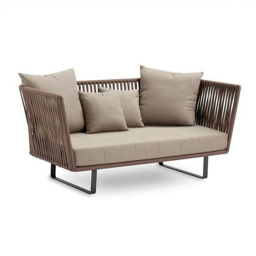 Bitta Braided Modern Outdoor Love Seat