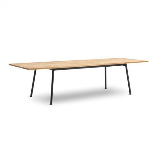 Bitta Rectangle Modern Outdoor Dining Table With Teak Top Extendable Gk 70701 726