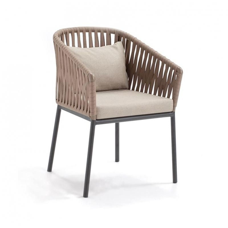 Bitta Braided Modern Outdoor Dining Chair GK 726