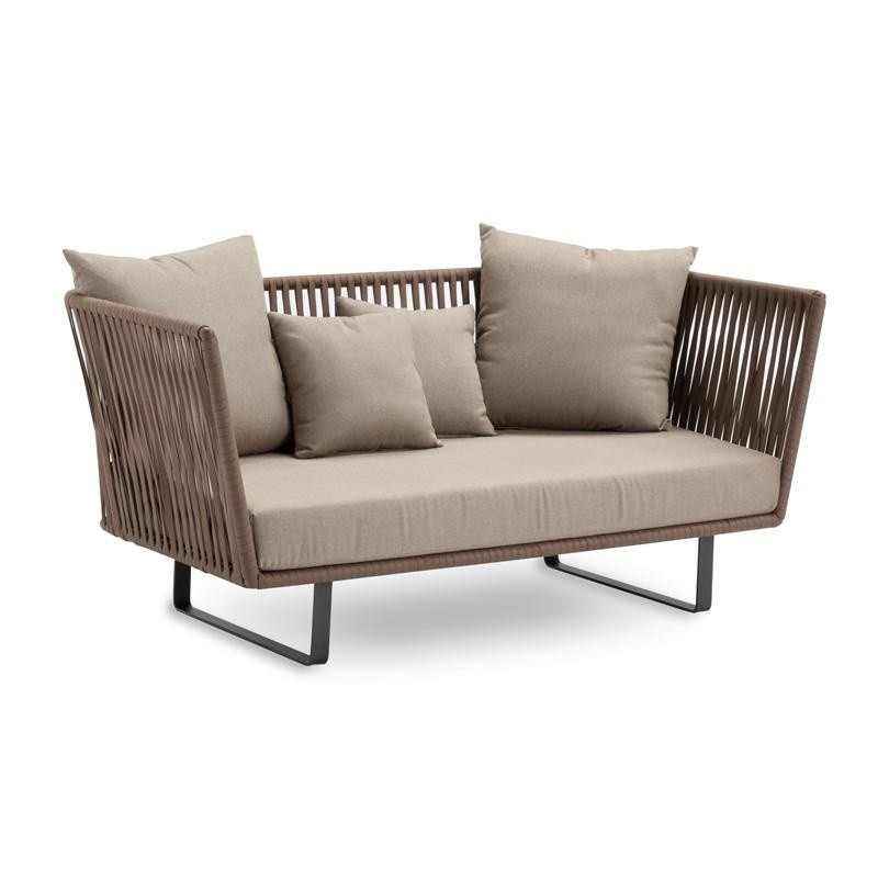 Bitta Braided Modern Outdoor Love Seat : Sofas