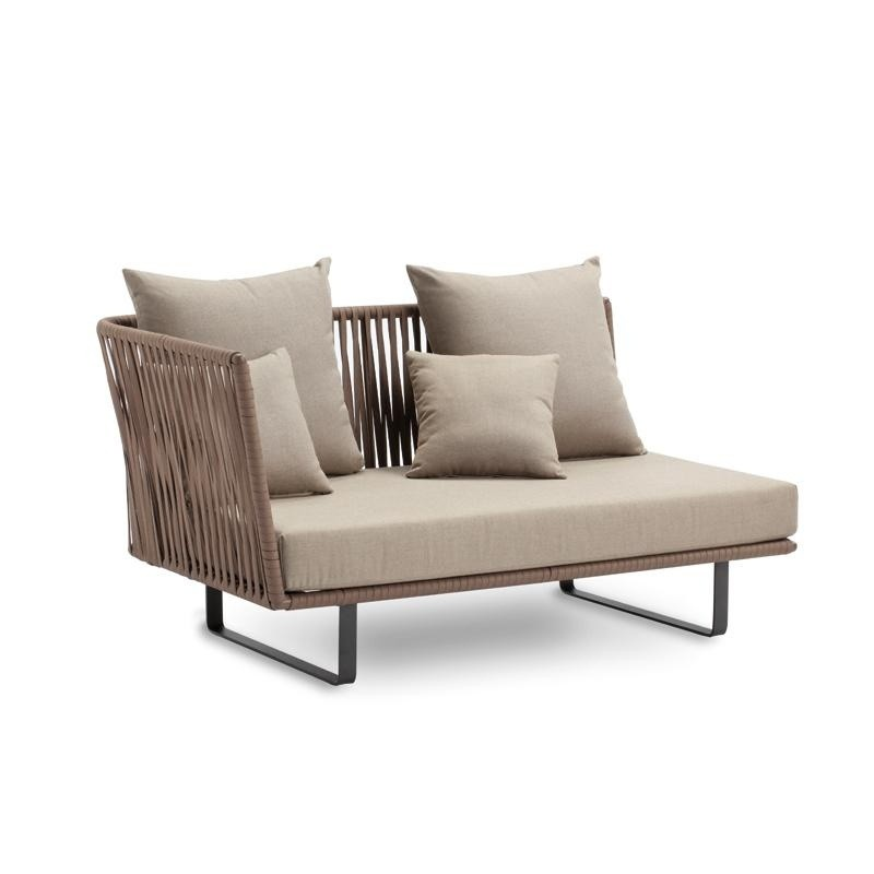 Outdoor Furniture: Kettal: Bitta Braided Modern Outdoor Sectional Right Corner Module