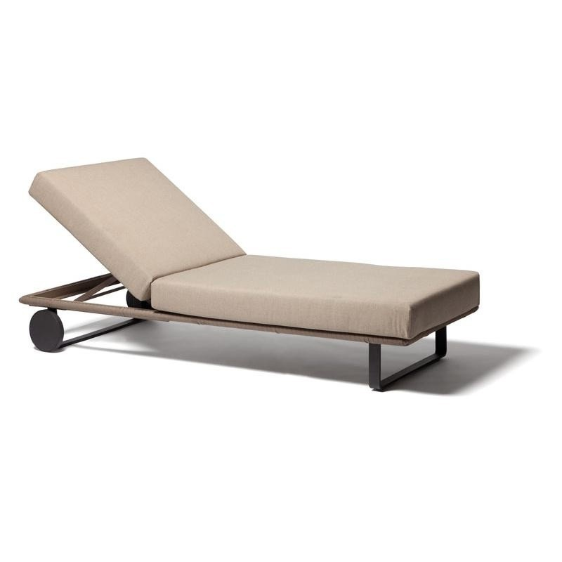 Outdoor Furniture: Kettal: Bitta Collection: Bitta Modern Outdoor Chaise Lounge