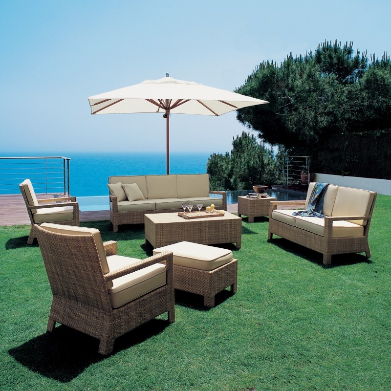 Resin Wicker Furniture Sets: Delta Resin Wicker Deep Seating Group 7-piece