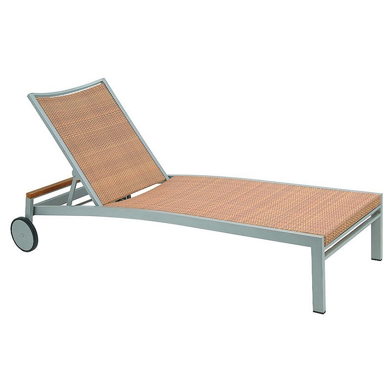Kore aluminum wicker chaise lounge 43600 for Aluminum outdoor chaise lounge