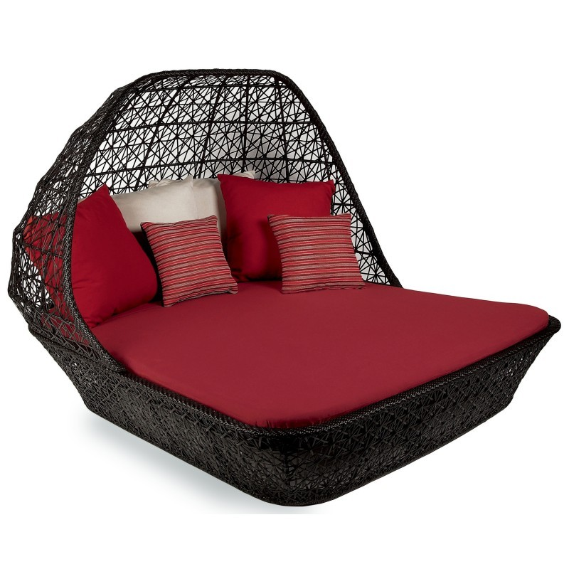 Maia Outdoor Double Chaise with Canopy : Patio Chairs