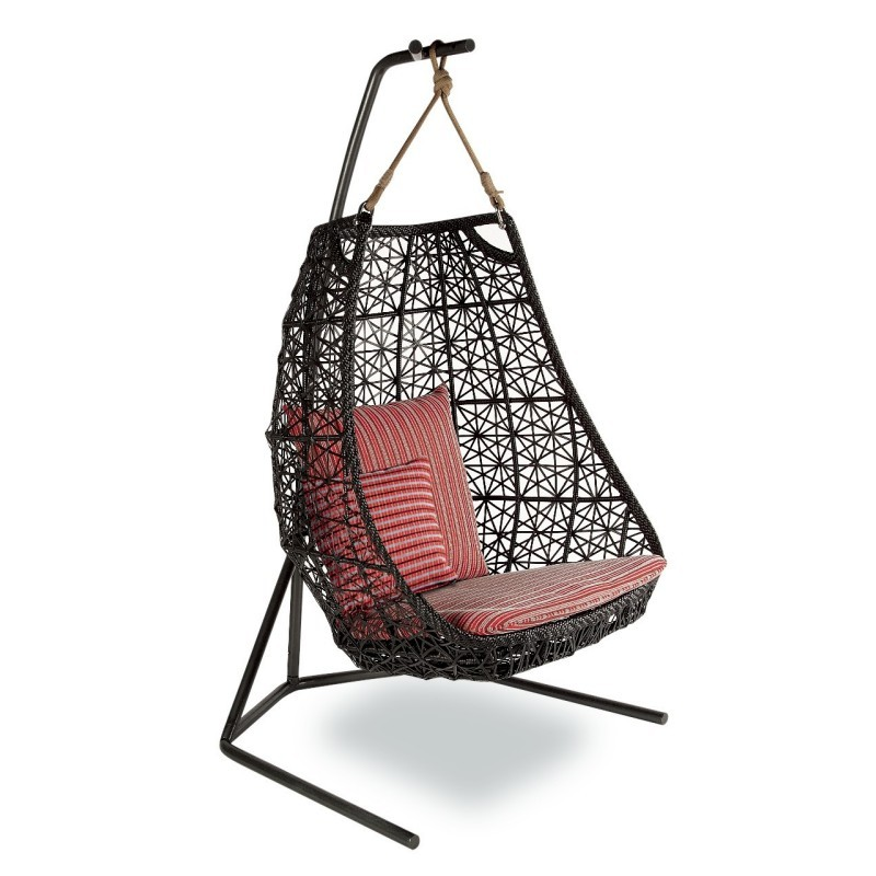 Maia Outdoor Egg Swing : White Patio Furniture