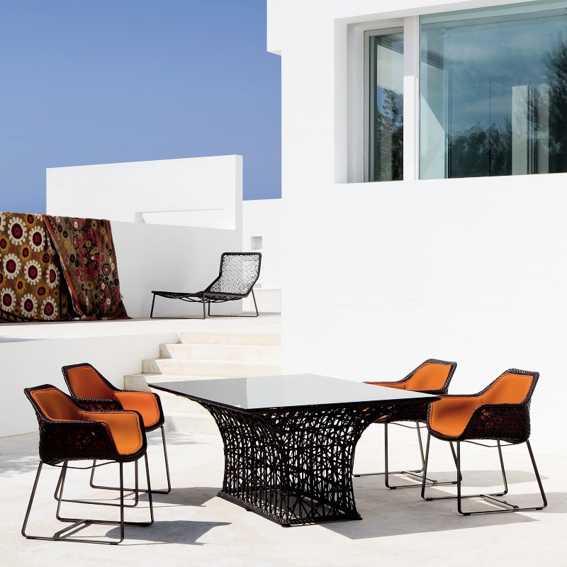 Maia Contemporary Patio Dining Set 5-piece