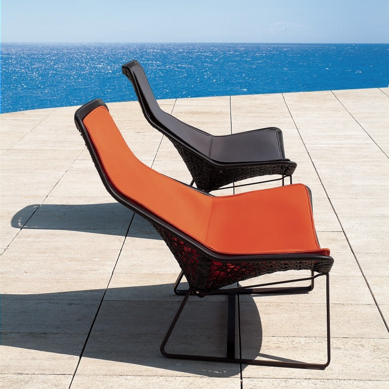 Kettal maia outdoor wicker lounging set 3 piece gk650s2 for Kettal maia chair