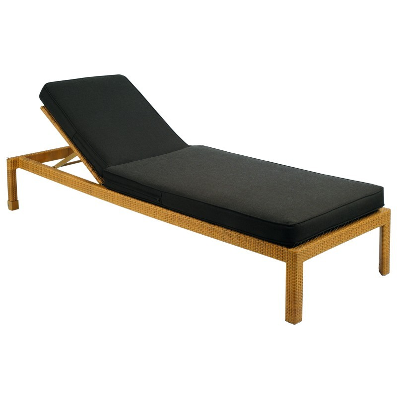 Kettal prisma outdoor wicker chaise lounge gk1860 for Bamboo chaise lounge