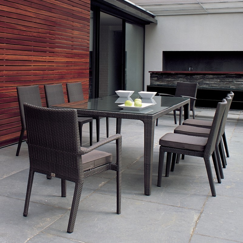 prisma outdoor wicker dining set 9 piece