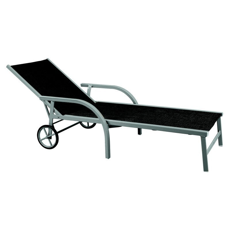 Singo aluminum chaise lounge chair 3160 for Aluminum outdoor chaise lounge