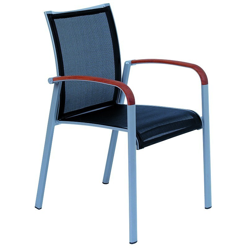 White Metal Patio Chairs: Kettal Soft Sling Outdoor Dining Armchair