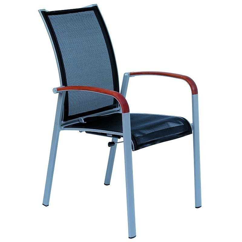 White Metal Patio Chairs: Kettal Soft Sling Outdoor Highback Multiposition Chair