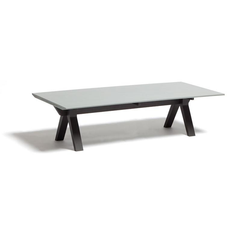Vieques Modern Outdoor Coffee Table 55 inch with Fiberstone Top